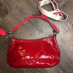 Coach Bags - 🍒Red Patent Coach Poppy Shoulder Bag🍒